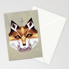 Geometric Fox Stationery Cards