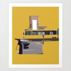 Yellow Tram Art Print