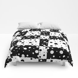 Holes In Black And White Comforters
