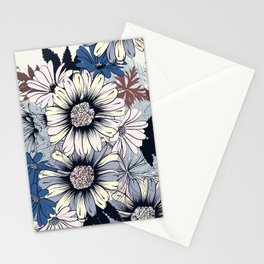 Cute floral pattern in vintage stylewith daisy flowers Stationery Cards