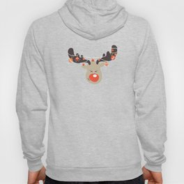Red Nose Reindeer Christmas Lights For Holiday Hoody