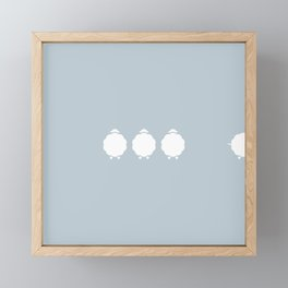Clouds of Lamb Framed Mini Art Print