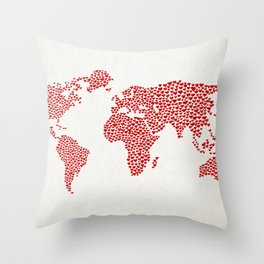 Love, You Are My World Throw Pillow
