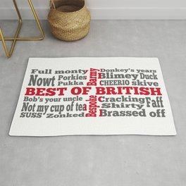 English slang on the St George's Cross flag Rug