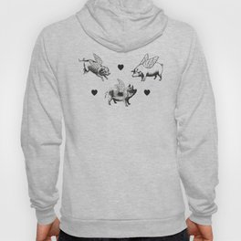 Flying Pigs | Black and White Hoody