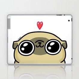 Mochi the pug loves you Laptop & iPad Skin