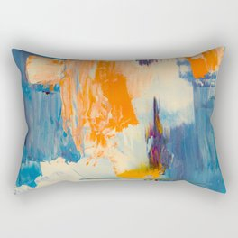 Tell me, what do you see in this picture? Rectangular Pillow