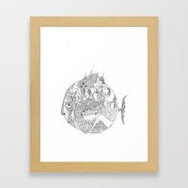 sad fish Framed Art Print