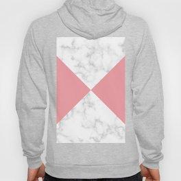 diagonal tiles marble coral pattern Hoody