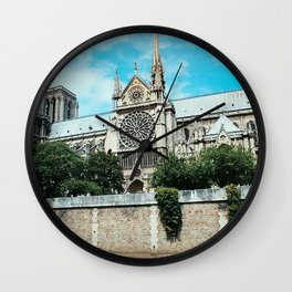Notre Dame River Point Wall Clock