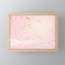 Rose Gold Marble Burst Framed Mini Art Print