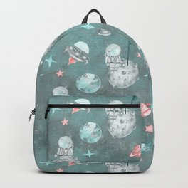 Moon landing blue Backpack