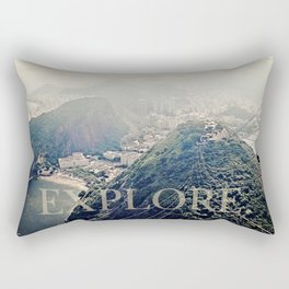 explore. Rectangular Pillow