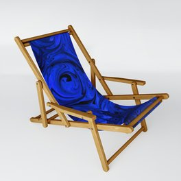 China Blue Rose Abstract Sling Chair