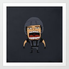 Screaming Johnny Rico Art Print