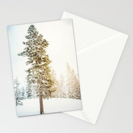 Snowy Tree | Winter Snow Forest Nature Photography Stationery Cards