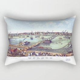 TOLEDO OHIO city old map Father Day art print poster Rectangular Pillow