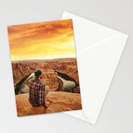 on top of canyonlands Stationery Cards