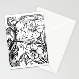 Daffodils Ink Drawing Art Stationery Cards