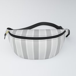 Large Vertical Christmas Silver Platinum Burnished Metal Bed Stripe Fanny Pack