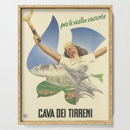 vintage Plakat cava dei tirreni. 1950 Serving Tray