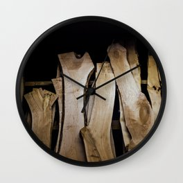 Wood Slabs Wall Clock