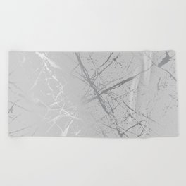 Silver Splatter 089 Beach Towel
