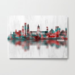 Havana Cuba Skyline Metal Print
