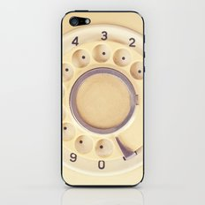 Yellow Retro Telephone  iPhone & iPod Skin
