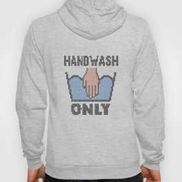 Handwash Only - funny faux embroidery design Hoody