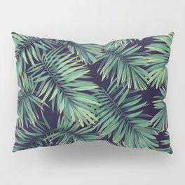 Green palm leaves Pillow Sham