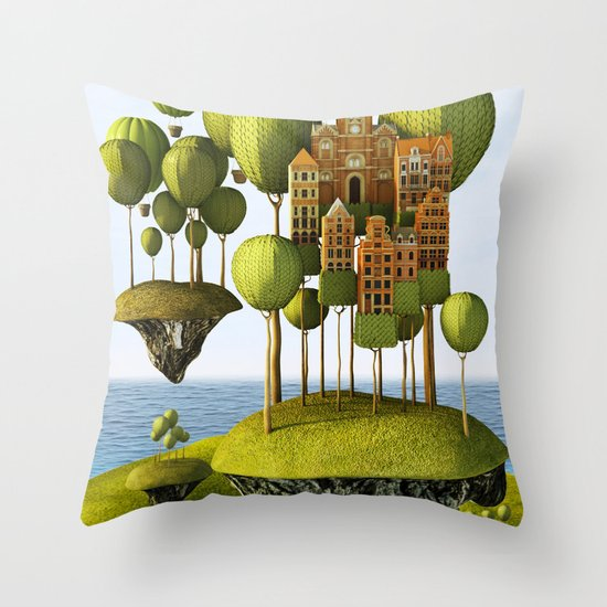 City in the Sky Throw Pillow