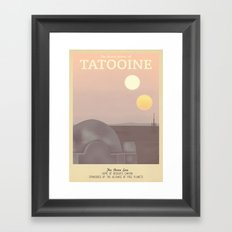 Retro Travel Poster Series - Star Wars - Tatooine Framed Art Print