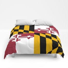 Flag of Maryland, High Quality image Comforters