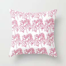 branches red graphic nordic minimal Throw Pillow