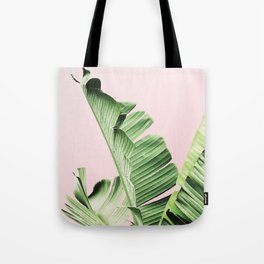 Banana Leaf on pink Tote Bag