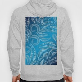 Coold Winter Blue Frosted Window design pattern Hoody