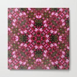 Spring blossoms kaleidoscope - Strawberry Parfait Crabapple Metal Print