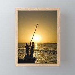 Niger river sunset - Mali, Africa Framed Mini Art Print