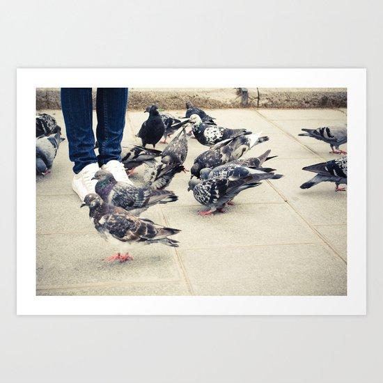 Birds. Art Print