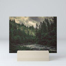 Pacific Northwest River - Nature Photography Mini Art Print