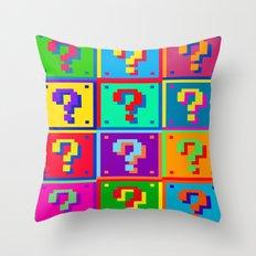 Mario Blocks Throw Pillow