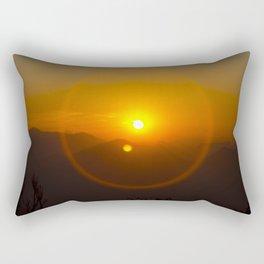 Buddha Sunset over Nepal Rectangular Pillow