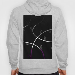 Jagged leaves, asexual pride flag Hoody