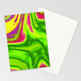 Colorful swirls background Stationery Cards