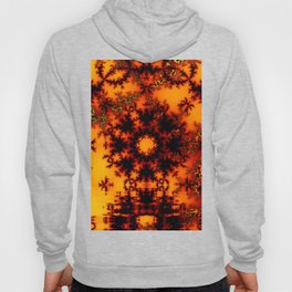 Mystical Golden Fire Lake, Abstract Fractal Baroque Illusion Hoody