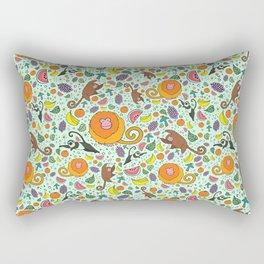 Cute Monkeys and Fruit Rectangular Pillow