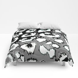 Black and White Leopard Spots Comforters