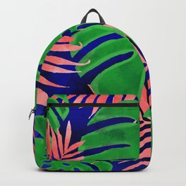 Plant green and coral Backpack