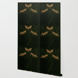 Art Nouveau Insects Wallpaper